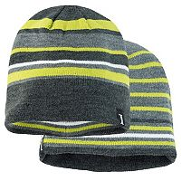 Boys Igloo Reversible Striped Beanie