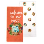 """Celebrate Spring Together """"Welcome To Our Nest"""" Kitchen Towel 2-pk."""