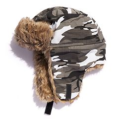 Boys Igloo Camouflage Trapper Hat