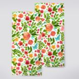 Celebrate Spring Together Floral Toss Kitchen Towel 2-pk.