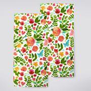 Celebrate Spring Together Floral Toss Kitchen Towel 2 pk