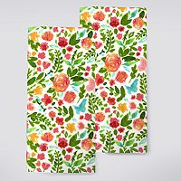 Celebrate Spring Together Floral Toss Kitchen Towel 2 pk