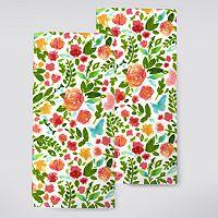 Celebrate Spring Together Floral Toss Kitchen Towel 2-pk.