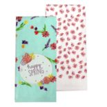 "Celebrate Spring Together ""Happy Spring"" Patch Kitchen Towel 2 pk"