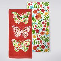 Celebrate Spring Together Butterfly Patch Kitchen Towel 2 pk