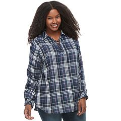 Plus Size SONOMA Goods for Life™ Lace-UP Shirt