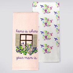 Celebrate Spring Together 'Home Is Where Your Mom Is' Window Kitchen Towel 2-pk.