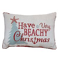 Park B. Smith Holiday ''Beachy Christmas'' Oblong Throw Pillow