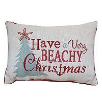 Park B. Smith Holiday ''Beachy Christmas'' Oblong Throw Pillow