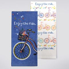 Celebrate Spring Together 'Enjoy The Ride' Kitchen Towel 2-pk.