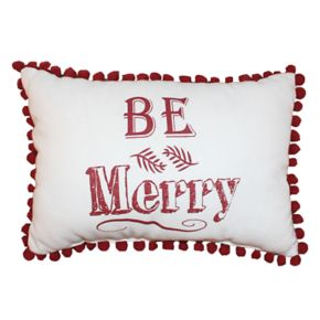 Park B. Smith Holiday ''Be Merry'' Oblong Throw Pillow