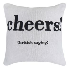 Park B. Smith Holiday ''Cheers'' Throw Pillow