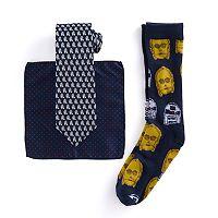 Men's Star Wars 3-Piece Sock, Tie & Handkerchief Set