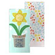 Celebrate Spring Together 'Spring Has Sprung' Kitchen Towel 2-pk.