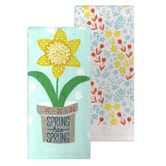 Celebrate Spring Together 'Spring Has Sprung' Kitchen Towel 2-pk.