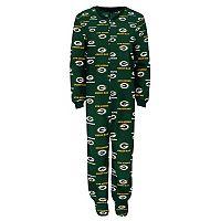Toddler Green Bay Packers One-Piece Fleece Pajamas