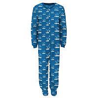 Toddler Detroit Lions One-Piece Fleece Pajamas