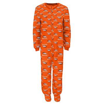 Toddler Denver Broncos One-Piece Fleece Pajamas