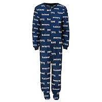 Toddler New England Patriots One-Piece Fleece Pajamas