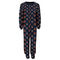 Toddler Chicago Bears One-Piece Fleece Pajamas