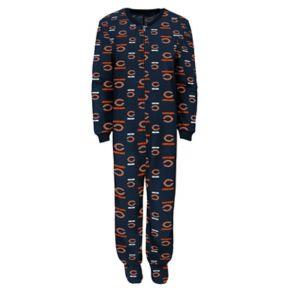 Toddler Chicago Bears One-Piece Fleece Pajamas