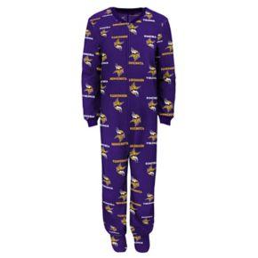 Toddler Minnesota Vikings One-Piece Fleece Pajamas