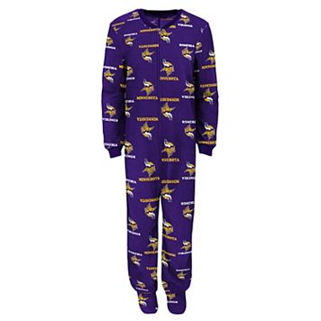 Toddler Minnesota Vikings One-Piece Fleece Pajamas