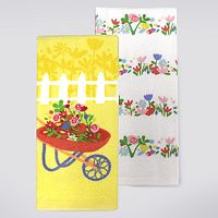 Celebrate Spring Together Wheelbarrow Kitchen Towel 2 pk