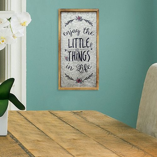 "Stratton Home Decor ""Little Things"" Farmhouse Wall Decor"