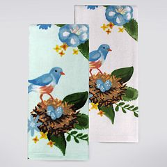 Celebrate Spring Together Bird Nest Kitchen Towel 2 pk
