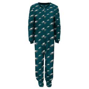 Boys 4-7 Philadelphia Eagles One-Piece Fleece Pajamas