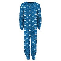 Boys 4-7 Detroit Lions One-Piece Fleece Pajamas