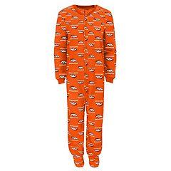 Boys 4-7 Denver Broncos One-Piece Fleece Pajamas