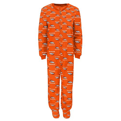 Boys 4-7 Denver Broncos One-Piece Fleece Pajamas