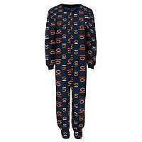 Boys 4-7 Chicago Bears One-Piece Fleece Pajamas