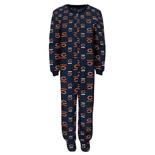 Boys 4-7 Chicago Bears One-Piece Fleece Pajamas