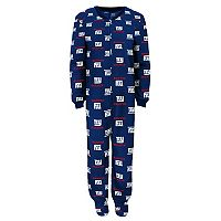 Boys 4-7 New York Giants One-Piece Fleece Pajamas
