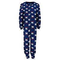 Boys 4-7 New York Giants One-Piece Fleece Pajamas