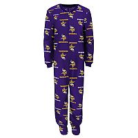 Boys 4-7 Minnesota Vikings One-Piece Fleece Pajamas