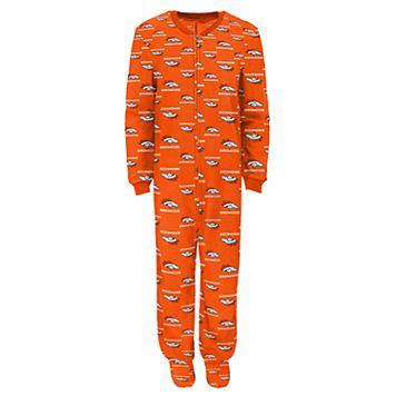 Boys 8-20 Denver Broncos One-Piece Fleece Pajamas