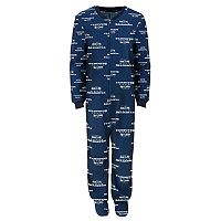 Boys 8-20 Seattle Seahawks One-Piece Fleece Pajamas