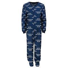 Boys 8-20 Seattle Seahawks One-Piece Fleece Pajamas