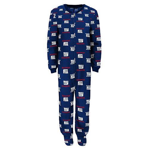 Boys 8-20 New York Giants One-Piece Fleece Pajamas