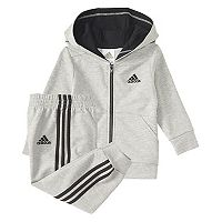 Baby Boy adidas Athletics Hooded Sweatshirt & Jogger Pants Set