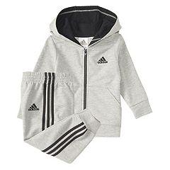 Baby Boy adidas Athletics Hooded Sweatshirt & Jogger Pants Set