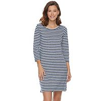 Women's SONOMA Goods for Life™ Striped T-Shirt Dress