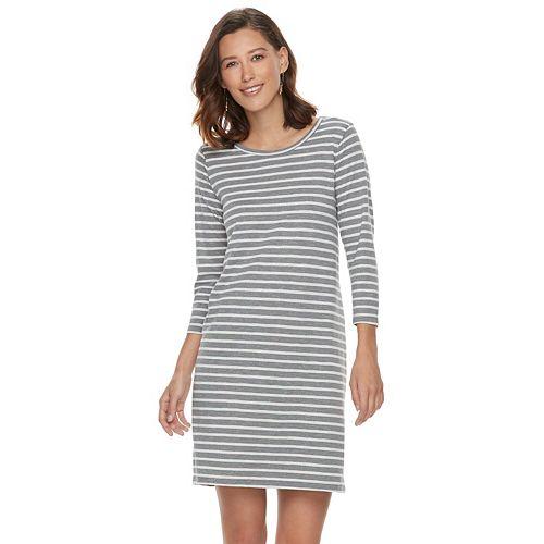 Women's SONOMA Goods for Life™ Striped T-Shirt Dress