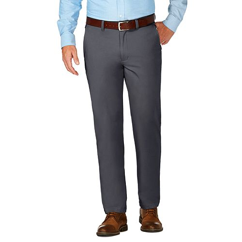 Men's J.M. Haggar Luxury Comfort Slim-Fit 4-Way Stretch Flat-Front Casual Pants