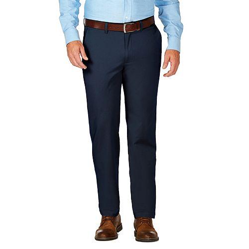 Men's J.M. Haggar Luxury Comfort Premium Flex-Waist Slim-Fit 4-Way Stretch Flat-Front Casual Pants