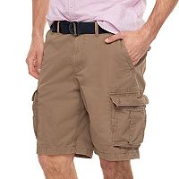 Big & Tall SONOMA Goods for Life™ Modern-Fit Lightweight Twill Belted Cargo Shorts